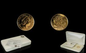 Royal Mint Issue - A Gift for a Baby 2008 Full 22ct Gold Sovereign.