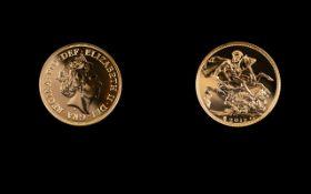 Royal Mint Edward VII 22ct Gold Sovereign - De Saulles Head ' Melbourne Mint ' Date 1906. Weight 7.
