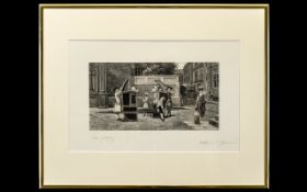 Framed Engraving After The Painting 'The Last Bit Of Scandal' William Frederick Yeames (1835 -