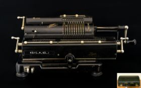 Antique Tiger Calculating Machine Model 129742 Japanese calculator, circa early 20th century,
