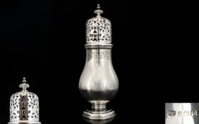 Mappin and Webb 1930's - Superior Quality and Heavy Solid Silver Sugar Castor of Excellent Form.