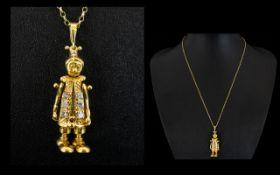 18ct Gold - Well Made Diamond Set Articu