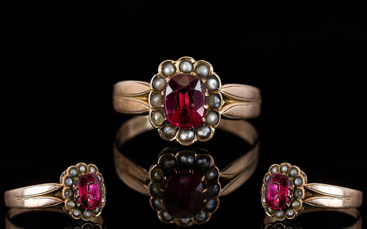 Lot 54A - Antique Period 9ct Rose Gold Stone Set C