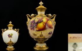 Royal Worcester Large and Stunning Hand