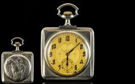 Art Nouveau - Stylish Slim-fold Silver S