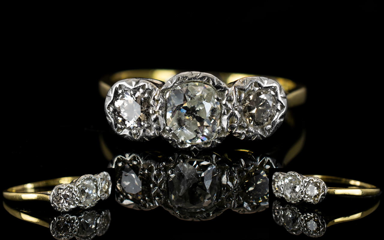 Lot 71 - Antique Period 18ct Gold and Platinum 3