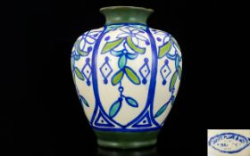 James Plant & Sons Hand Painted Vase, Pa