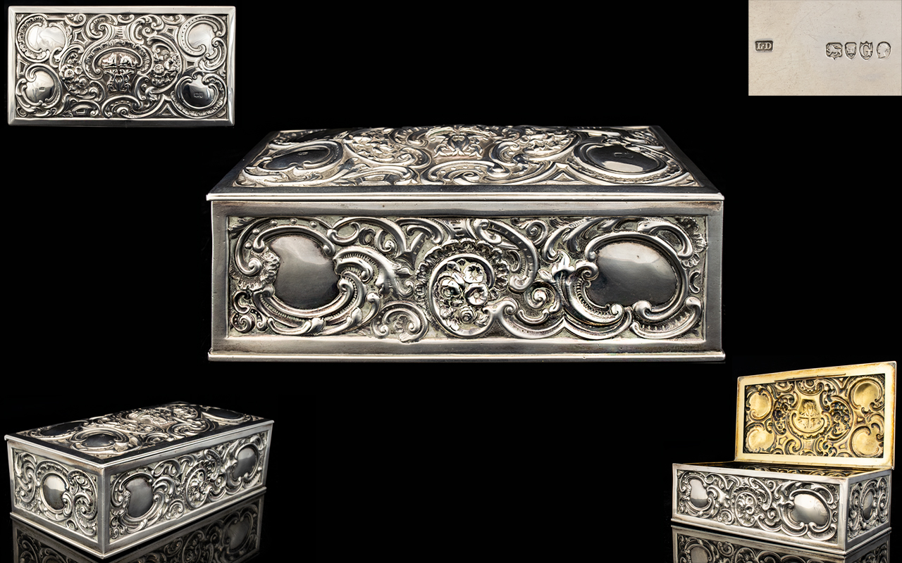 Lot 53 - Victorian Late 19th Century Sterling Sil