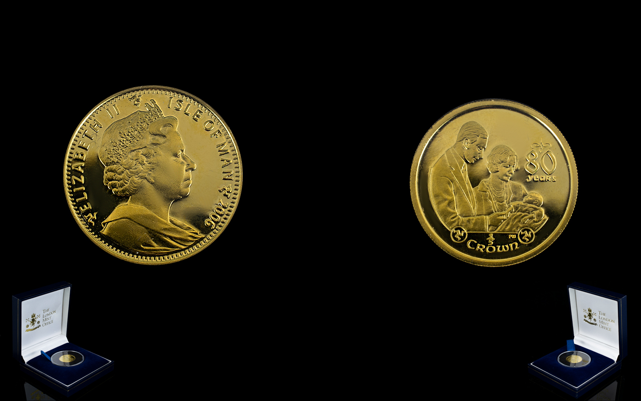Lot 87A - The Royal Birth of a Princess Gold Proof