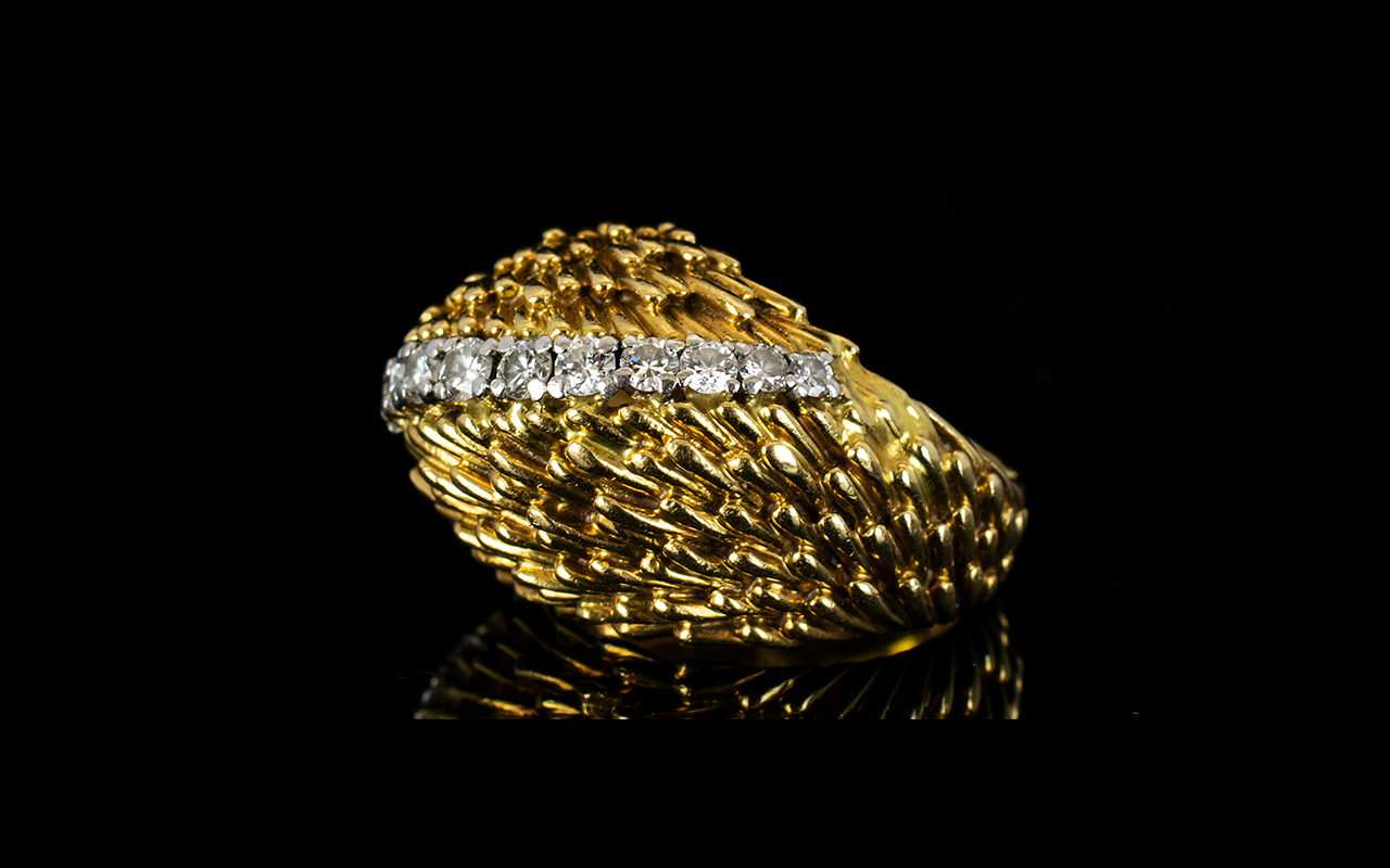 Lot 10 - Kutchinsky Signed 18ct Yellow Gold And D