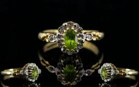 Ladies - Fancy Shank 9ct Gold Peridot an