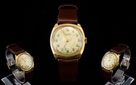 J.W. Benson London 9ct Gold Mechanical Wrist Watch.