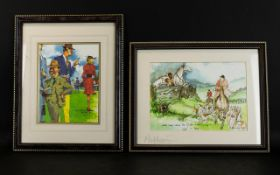 Equestrian Interest Two Horse Racing Interest Prints Each framed and glazed, the first depicting