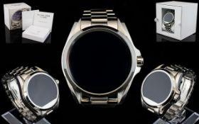 Michael Kors MKT 5012 Ladies Bradshaw High Fashion Silver Tone Smart Watch,