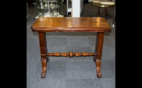A Victorian Mahogany Three-tier Metamorphic Buffet/Dumb Waiter with moulded edge to the rounded