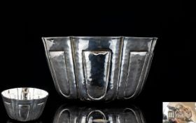 Arts and Crafts - Superior Quality and Pleasing Planished Solid Silver Bowl of Small Form,