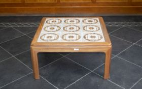 Contemporary Design Good Quality - Good Sized Square Shaped Solid Ash Tile Top Coffee Table, of