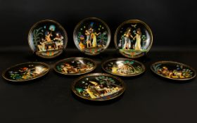 Collection of Plates from the Legend of the Tutankhamun Series.