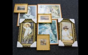 Three late 19th/Early 20th Century Framed Watercolours Each depicting rural landscapes,