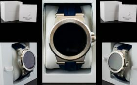 Michael Kors MKT 5008 Access Dylan S/S Blue Rubber Strap Smart Watch, Many Features,