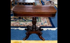 A Victorian Mahogany Tilt Top Tea Table - of typical form,