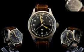 Omega - Military 1953 RAF Issue Pilots Stainless Steel Wrist Watch with Attached Original Leather