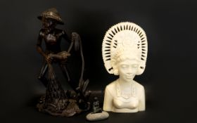 A Collection Of Early To Mid 20th Century Tourist Figures Three in total to include Indonesian