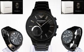 Emporio Armani Connected Black Matte Smart Watch, Model ART3001, Excellent Design,