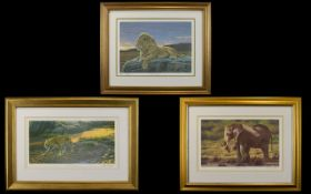 Three Limited Edition Framed Prints By Stephen Gayford Each in very good condition, each framed