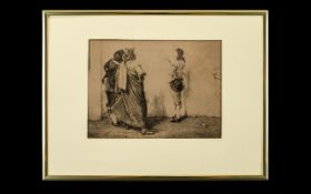 Framed Engraving Depicting the painting Ho! Ho! Ho! By John Pettie R.A (1839 -1893) Framed and