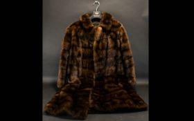 Vintage Mink Coat Ladies swing style female ranch mink coat.