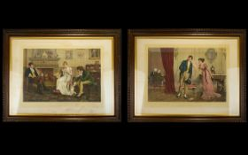 A Pair Of Early 20th Century Framed Prints After Original Paintings By C. Haigh Wood.