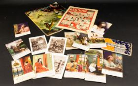 A Small Collection Of Ephemera To includ