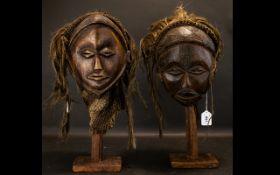A Pair Of Oceanic Tribal War Masks Comp