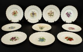 Copeland Spode Collection of Ten Hand Pa