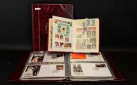 Stamp Interest - Two Stamp Albums and on