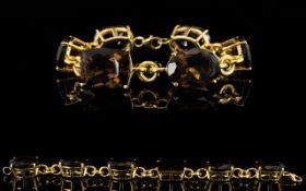 Smoky Quartz Statement Bracelet, 100cts