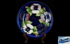 William Moorcroft Footed Bowl with Pansy