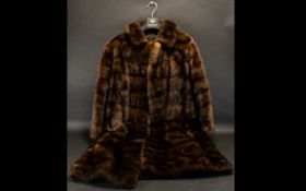 Vintage Mink Coat Ladies swing style fem