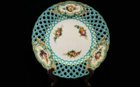 A 19th Century Minton Cabinet Plate With