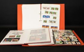 Stamp Interest - Two Loose Leaf Albums c