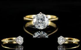 An 18ct Gold Single Stone Diamond Ring S