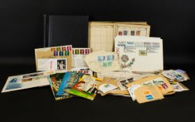 Box of stamps and stamp related material