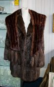 Attractive Mink Coat Dark Brown, three q