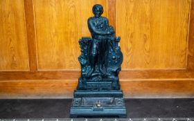 Victorian Cast Iron William `Wallace` Stick Stand With Removable Drip Tray, Missing Frame,