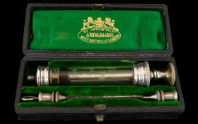 Antique Medical Interest An Arnold & Sons Patent Hypodermic Syringe.