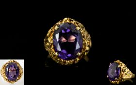18ct Gold - Single Stone Mystic Topaz Set Dress Ring, Attractive Dress Ring In Excellent Condition.