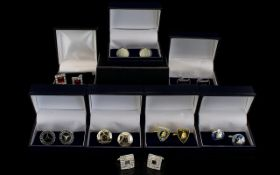 Good Collection of Mixed Cufflink's with Boxes.
