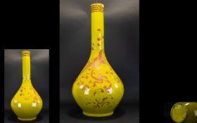 Japanese Meiji Period (1868-1912) Large Bulb Form Vase With Enamel Decoration Floor standing vase