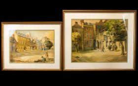Irene A. Welburn R.O.I., R.B.S.A. British (1910 - 2000) (ex.1936-1940) Two Original Watercolours